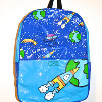 90's Outer Space Galaxy Shoot for the Stars Backpack