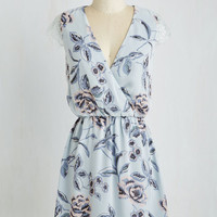 Pastel Mid-length Cap Sleeves A-line Lyricist's Lullaby Dress by ModCloth