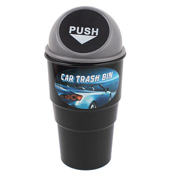 uxcell A13031400ux0563 Plastic Trash Rubbish Can Garbage Dust Holder Gray