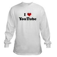 I Love YouTube Long Sleeve T-Shirt on CafePress.com