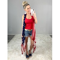 America the Beautiful Vest Kimono