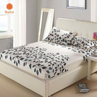 1Pcs Fitted Sheet Deep 26cm Mattress Cover Printing Bedding Linens Bed Sheets With Elastic Band Pillowcase 48x74cm