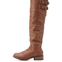 Over-the-Knee Riding Boots by Qupid at Charlotte Russe
