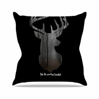 """Suzanne Carter """"The Road"""" Contemporary Nature Throw Pillow"""