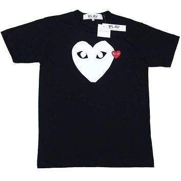 Play New fashion love heart eye print couple top t-shirt