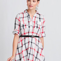 Perfect Afternoon Plaid Dress