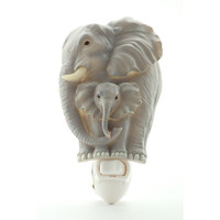 Elephants Night Light, Ibis & Orchid Nightlights, NIB, 50081