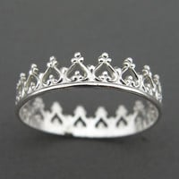 Silver Ring  You Are My Princess by thesilversmith on Etsy