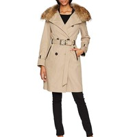 Mackage Women's Karolina Trench Coat W/Removable Collar & Down Vest