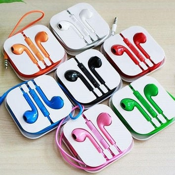 The New Colorful Earphones Earbud Headset Headphone for Apple iPhone