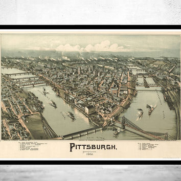 Panoramic View of Pittsburgh Pennsylvania 1902
