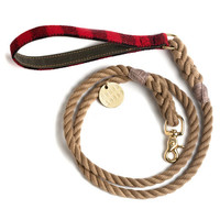 Buffalo Plaid and Rope Dog Accessories X Found My Animal