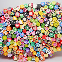 Polymer Clay Fimo Canes · 100 Canes   Perfect for Nail Art, Polymer Clay, Scrapbooking, Resin