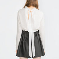 SHIRT WITH BACK TIE