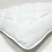 "Fully Reversible 1"" Down Alternative Mattress Topper with Stay Tight Anchor Straps"