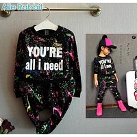 Christma Tops+Pants Toddler girl clothing girls clothes set baby boys tracksuit kids cloth 2 3 4 5 7 years kids hip hop clothing
