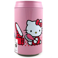 Hello Kitty Round Bank Tin [Pink - 8 Inches]