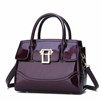 Glossy Patent Leather Handbags