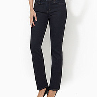 Lauren Jeans Co. Super Stretch Slimming Classic Straight Jeans - Rinse