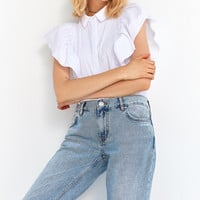 BDG Mid-Rise Cropped Flared Jean | Urban Outfitters