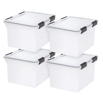 IRIS USA, Inc. UCB-FB WEATHERTIGHT Letter and Legal Size File Box, 32 Quart, Clear Standard Packaging