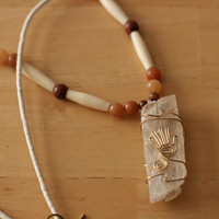 Healing Hand wire wrapped necklace