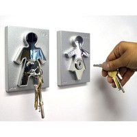 His and Her Key Holders - Couple Key Holders - House Warming Gift for Newlyweds