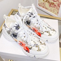 Christian Dior hot sale letter print stitching color ladies sneakers casual shoes #3