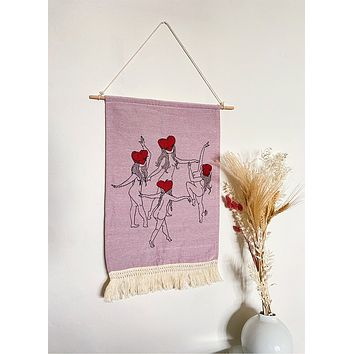 Love Dancers Woven Tapestry