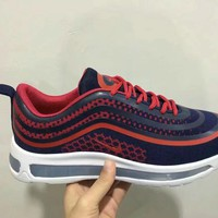 """Nike Air Max 97"" Men Sport Casual Fashion Multicolor Stripe Air Cushion Running Shoes Sneakers"