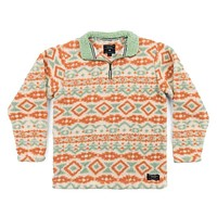 Appalachian Peak Sherpa Pullover in Oatmeal and Sage by Southern Marsh