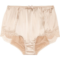 Dolce & Gabbana | High-rise stretch-silk satin briefs