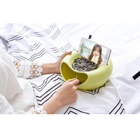 2017 4 colors Melon Seeds nut bowl Table Candy Snacks Dry Fruit Holder Storage Box Plate Dish Tray With Mobile phone stents EY11