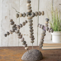 3 Wire Crosses On A River Stone Base