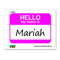 Mariah Hello My Name Is Sticker