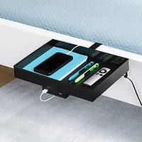 Lifestyle Home Metal USB Charging Bunk Shelf in Black
