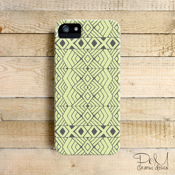 Lime Green Aztec - iPhone 5/5c case, iPhone 4/4s case, Samsung Galaxy S3/S4