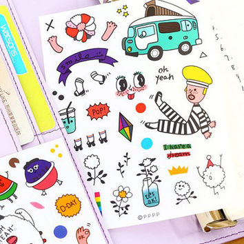Kawaii Planner Stickers. Cute Planner Stickers, Sticker Sheets,