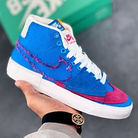Nike SB Zoom Blazer Mid Edge Hack Pack New Fashion Hook Women Men Sports Leisure Running Shoes Blue