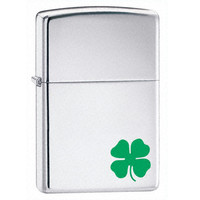 Zippo 24007 Classic A Bit O' Luck High Polish Chrome Windproof Lighter