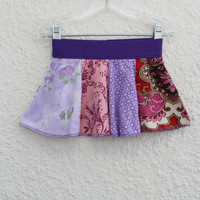 18-24 Month Baby Skirt, Onsie Skirt for Baby made from Upcycled T Shirts,  Infant Skirt made from Recycled T-shirts, Onsie Skirt (26)