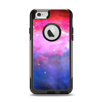 The Vivid Pink and Blue Space Apple iPhone 6 Otterbox Commuter Case Skin Set