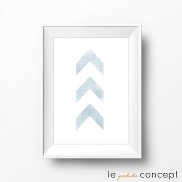 Distressed Poster, Summer Inspiration, Minimalistic Home Decor, Trendy Wall Art, Blue Wall Art, Digital Print Art, Instant Download
