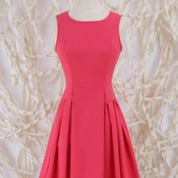 School's Out Pleat Dress - Fit and Flare - Dresses - Apparel