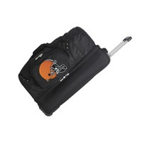 Cleveland Browns 27in Wheeled Duffel Nylon bag-BLACK