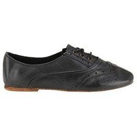 Vintage Shoe Company Womens Aubrey Suede Wing Tip Oxfords