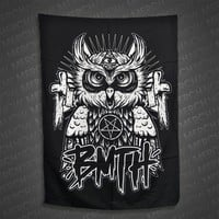 All Seeing Owl Black Flag : MNDI : MerchNOW - Your Favorite Band Merch, Music and More
