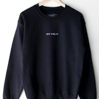 New York, NY Oversized Sweatshirt