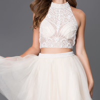 Short Two Piece Open Back Dress