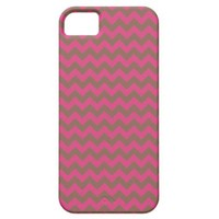 Chevron Red Cabaret Fuchsia And Coffee Brown iPhone 5 Cover